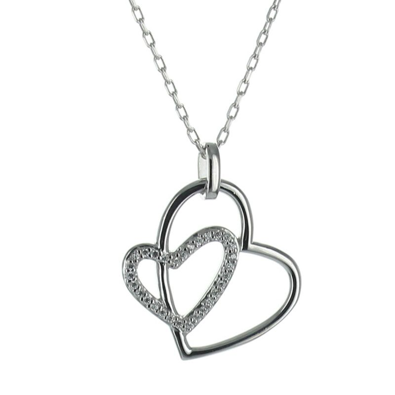 Pendentif coeur and strass