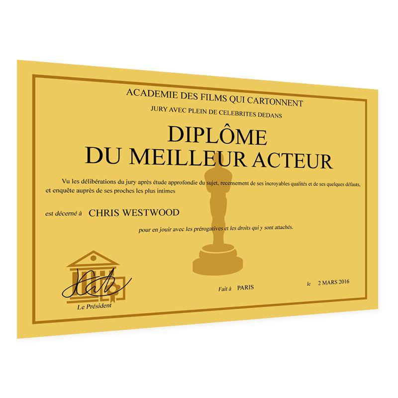 Faux dipl me personnalis amikado for Diplome de cuisine a imprimer