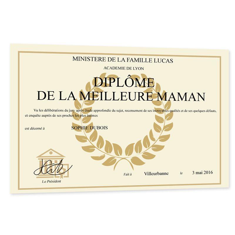 Je vous le meilleur homme certificat imprimé personnalisé