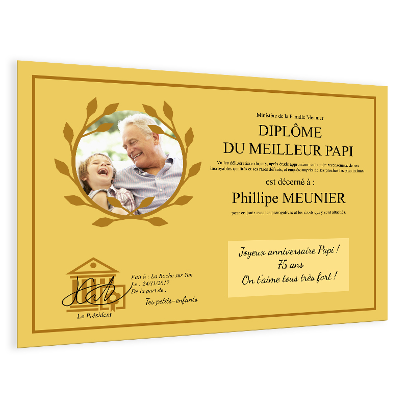 dipl u00f4me photo sur affiche ou plaque aluminium