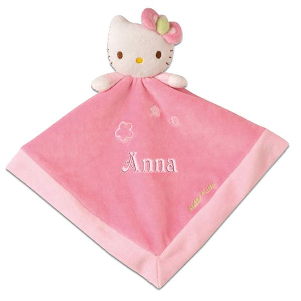 Doudou personnalis hello kitty avec pr nom b b amikado - Livre personnalise doudou ...