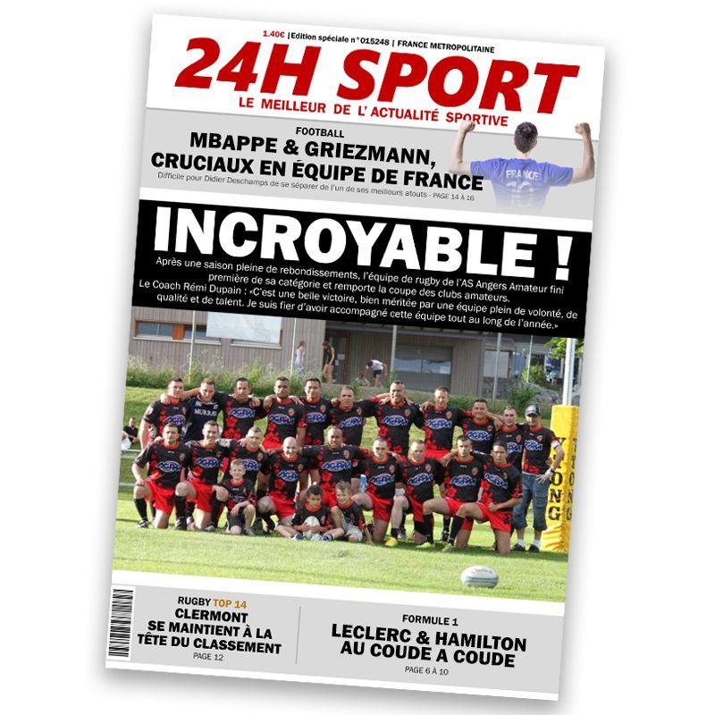 Fausse Une de magazine Sportif
