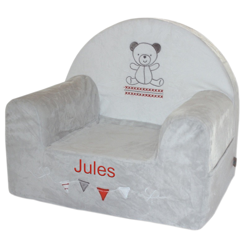 fauteuil club b b ourson personnalis une id e de cadeau original amikado. Black Bedroom Furniture Sets. Home Design Ideas