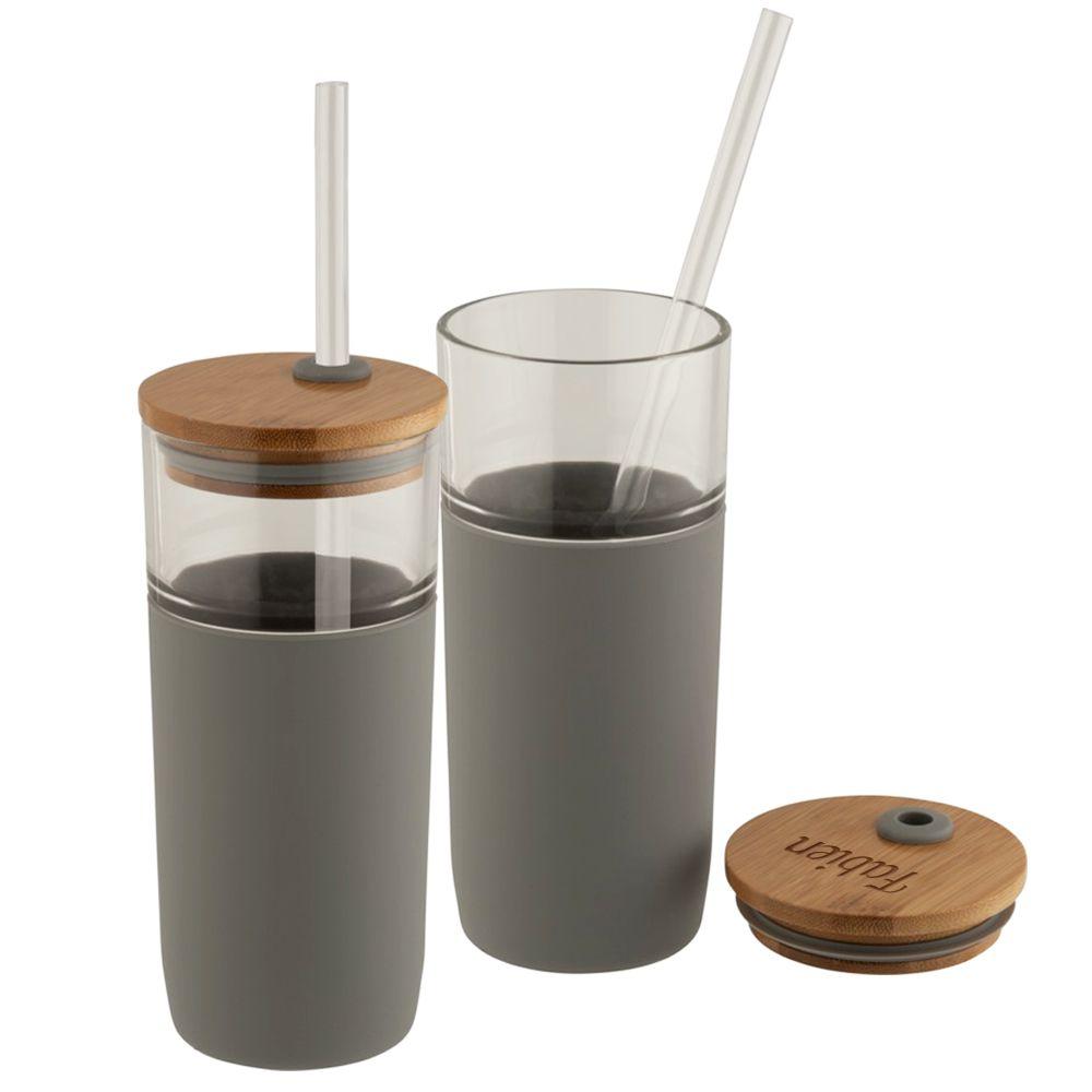 Faire Des Gobelets Personnalisés gobelet en verre avec couvercle en bambou personnalisé | amikado