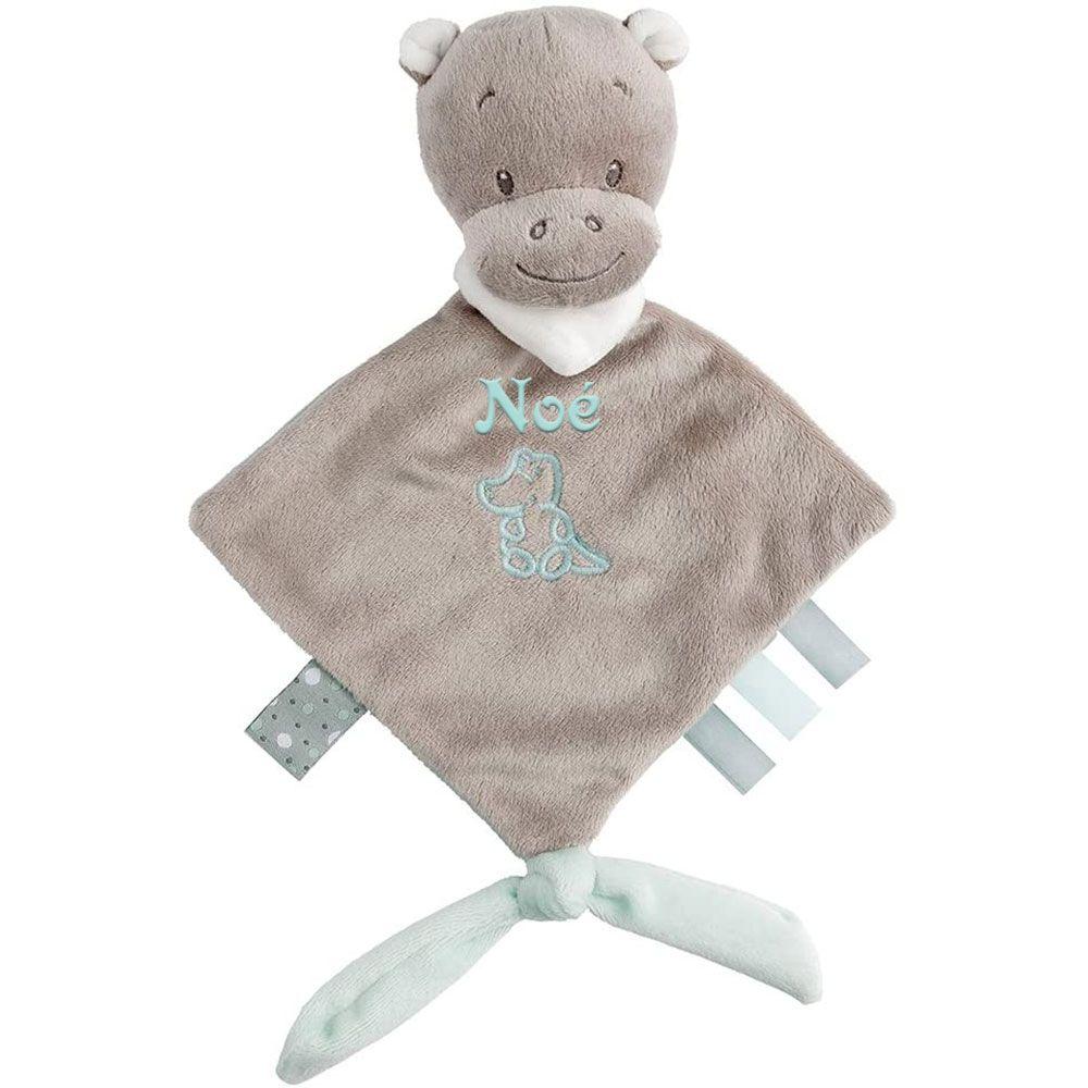 Mini doudou Hyppolyte l'hippopotame personnalisé