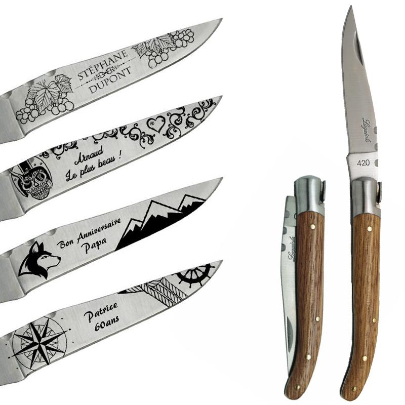 Couteau Laguiole Personnalise Avec Motifs Coutellerie Gravee Amikado