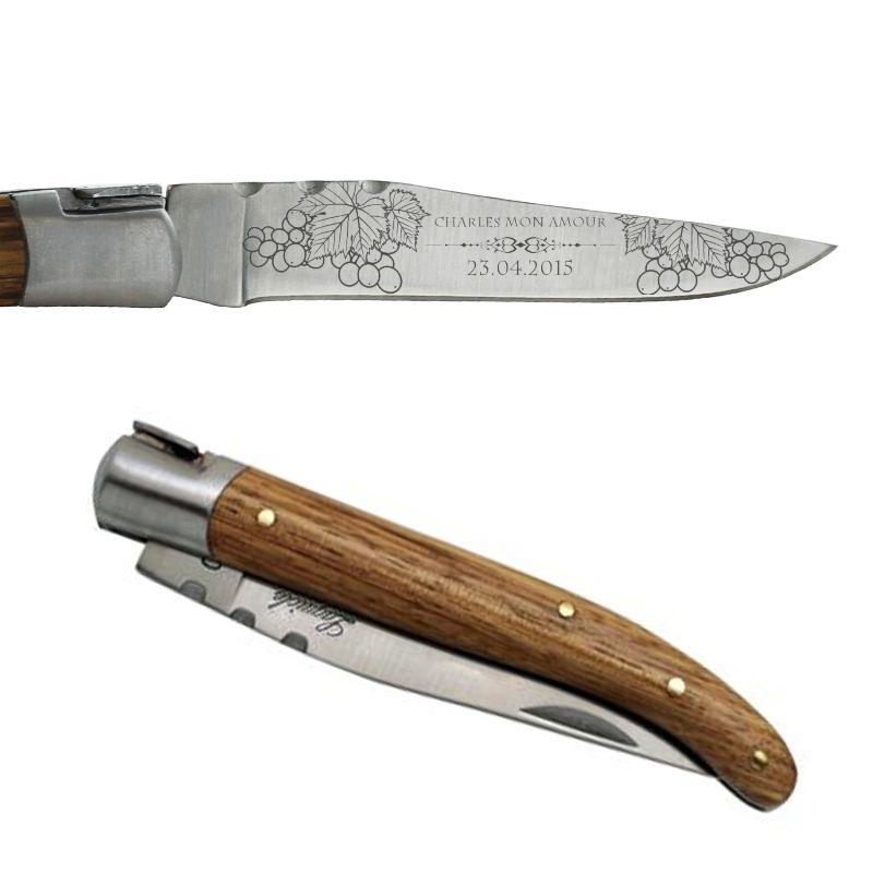 Couteau Laguiole personnalisé avec motifs