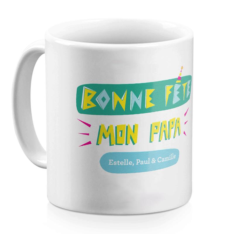 Mug personnalisé Bonne fête mon Papa
