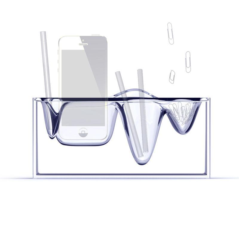 organiseur de bureau liquid station une id e de cadeau. Black Bedroom Furniture Sets. Home Design Ideas