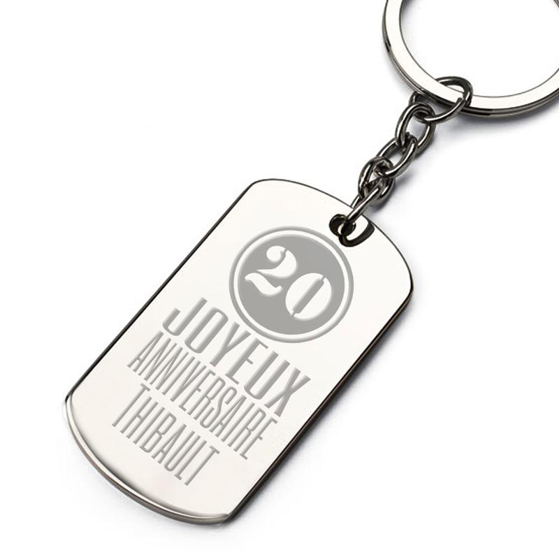 Porte-clés plaque anniversaire