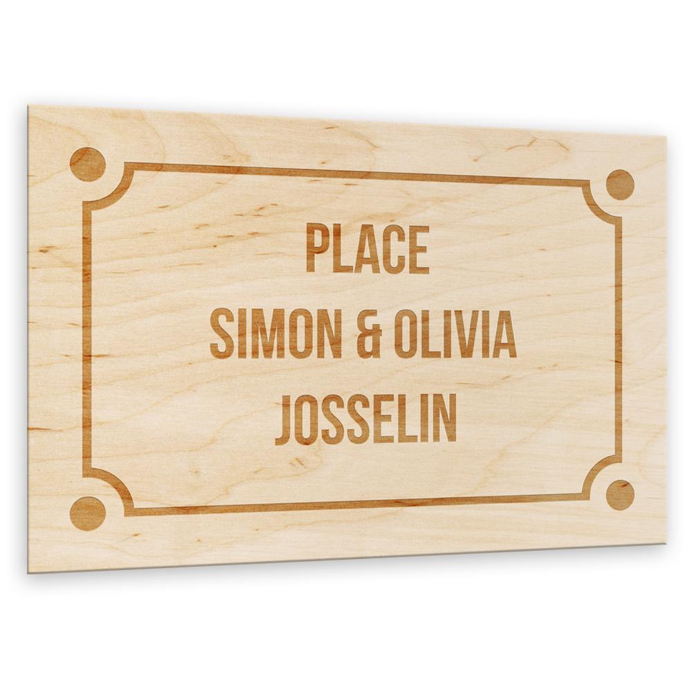 Plaque de rue en bois personnalisée