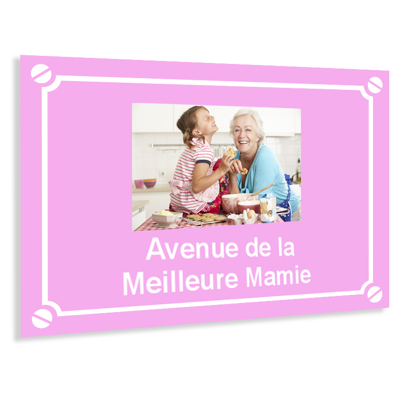 Plaque de rue personnalisée avec photo