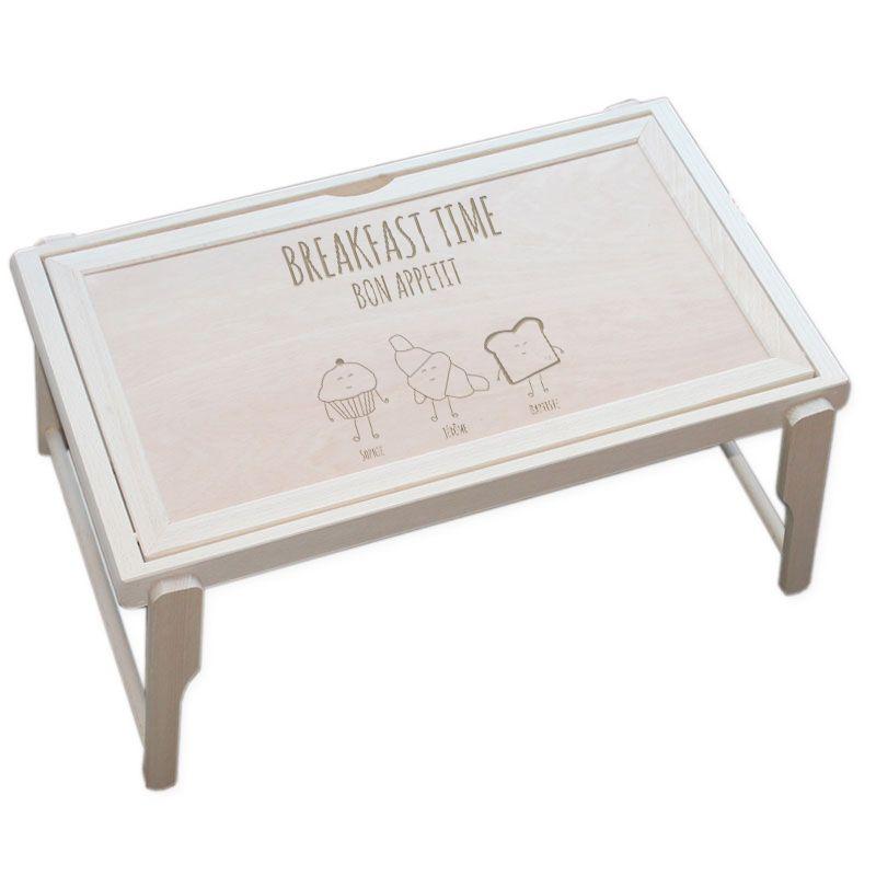 plateau de lit personnalis petit d jeuner amikado. Black Bedroom Furniture Sets. Home Design Ideas