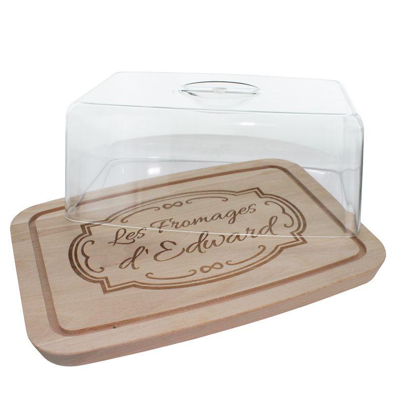 plateau fromages personnalis avec couvercle une id e de cadeau original amikado. Black Bedroom Furniture Sets. Home Design Ideas