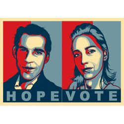 Portrait Pop Obama couple