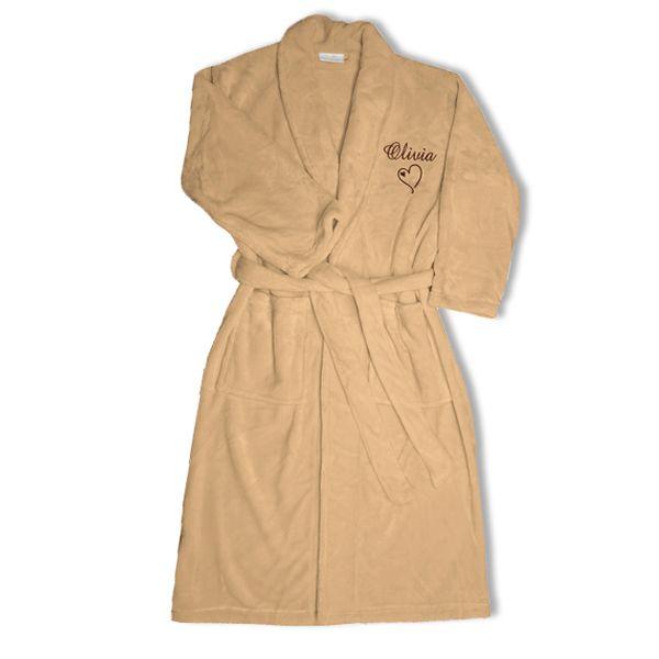 d3cad302b463a Robe de chambre polaire brodée : une idée de cadeau original | Amikado