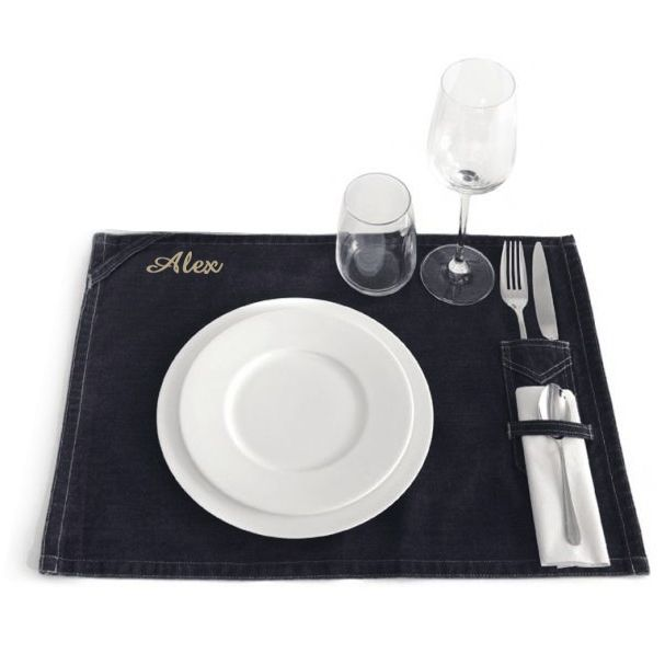 Set de table personnalis une id e de cadeau original - Set de table intisse ...