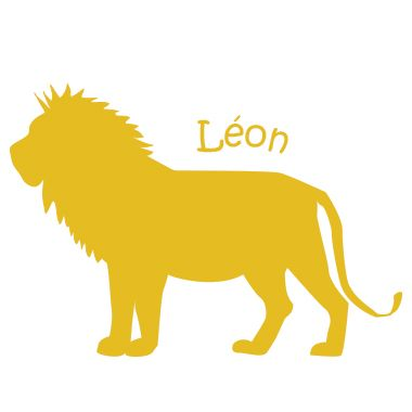 Stickers prénom Léon le lion
