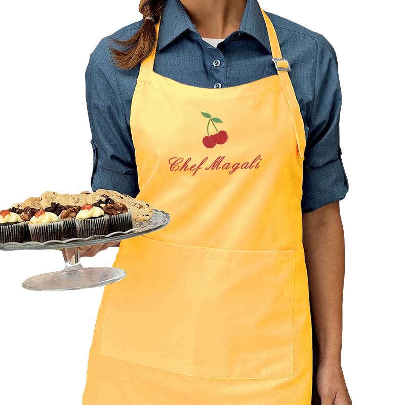 Tablier de cuisine personnalis avec pr nom brod amikado for Tablier de cuisine personnalise