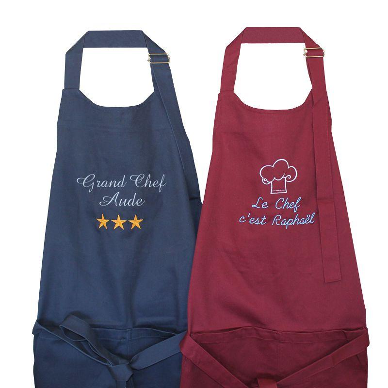 Tablier de cuisine personnalis avec pr nom brod amikado - Tablier de cuisine personnalise photo ...