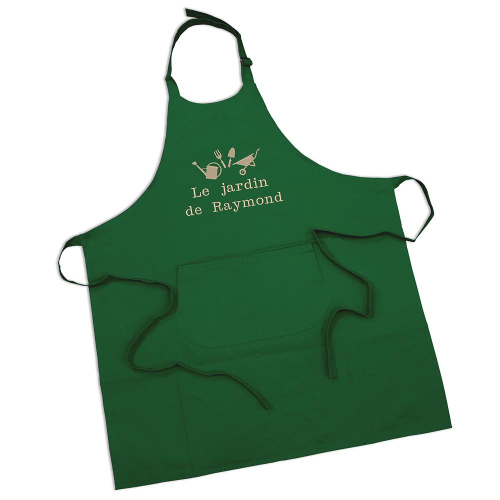 Tablier de cuisine personnalis avec pr nom brod amikado - Tablier de cuisine personnalise homme ...