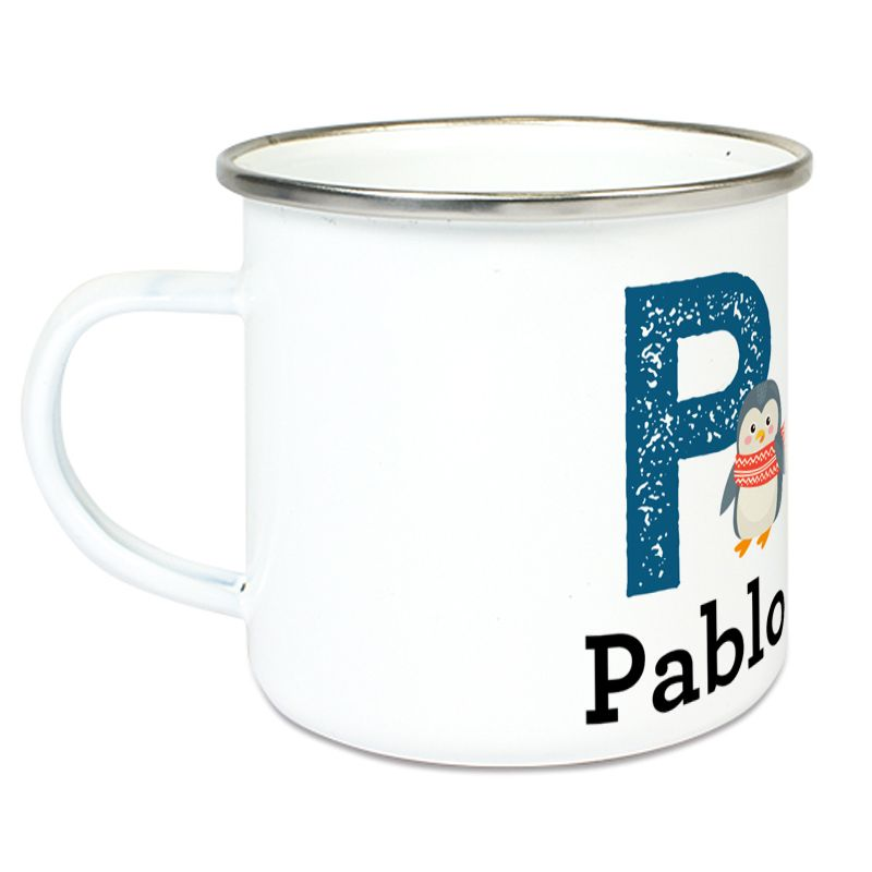 Tasse alphabet animal personnalisé prénom