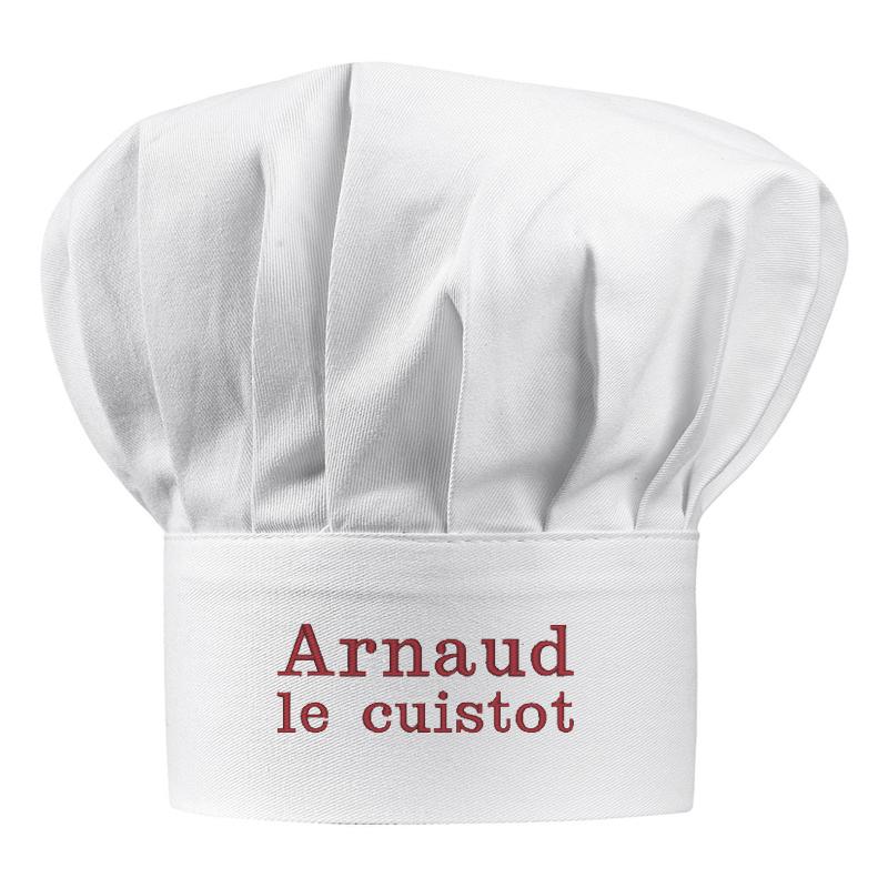 Toque de Chef personnalisée avec un prénom   Amikado bec4fee6557