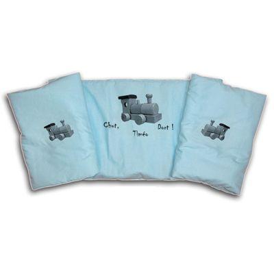 Tour de lit personnalis petit train une id e de cadeau original amikado - Tour de lit personnalise prenom ...