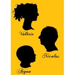 Silhouette trio