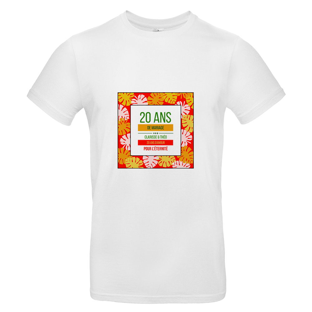 T-Shirt Homme palmeraie personnalisé
